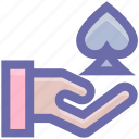 ace, casino, gambling, game, hand, poker game icon