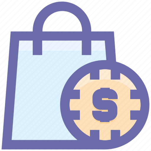 case with dollar sign, dollar bag, dollar case, hand bag, money bag icon