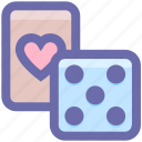 board, board game, card, casino, dice, gambling, game, heart, poker icon