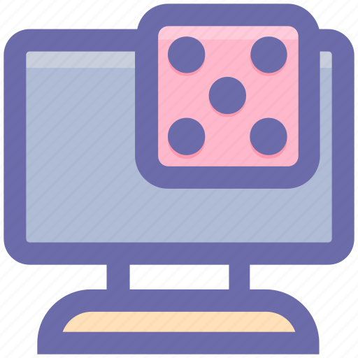 casino, dice, gambling, game, lcd, lcd game, tv icon