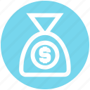 .svg, dollar sack, money bag, money pouch, money sack, pouch, sack icon