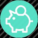 .svg, bank, coins, money bank, piggy, piggy bank, saving icon
