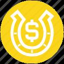 .svg, casino, charm, dollar, gambling, horseshoe, lucky icon