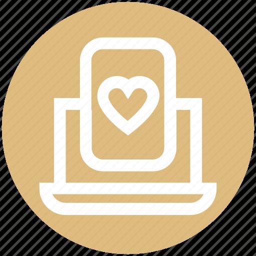 .svg, heart, heart poker, laptop, online casino, online gambling, online game icon