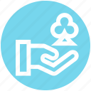 .svg, casino, clover, gambling, game, hand, suit icon
