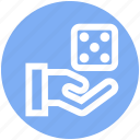 .svg, board game, casino, dice, gambling, game, hand icon