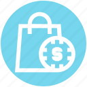 .svg, case with dollar sign, dollar bag, dollar case, hang bag, money bag icon
