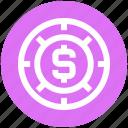 .svg, casino chip, casino dollar chip, dollar sign, gambling, game icon