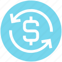 .svg, arrows, casino, dollar sign, gambling, loading, sync icon