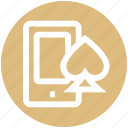 .svg, ace, gambling, mobile, online casino, online game, poker icon