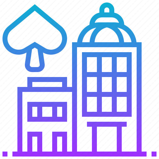building, casino, gambling, risk, tower icon