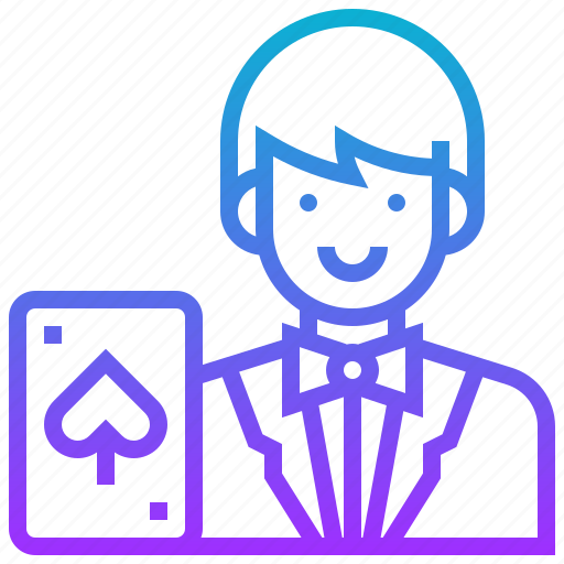 avatar, casino, dealer, gambling, man icon