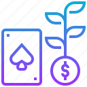 casino, gambling, growth, lucky, risk icon