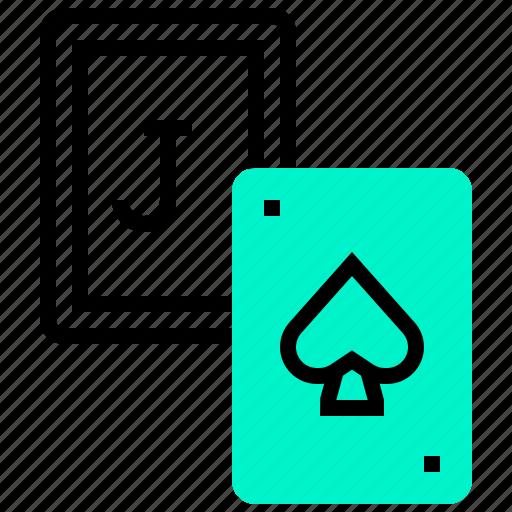 blackjack, casino, gambling, poker, risk icon