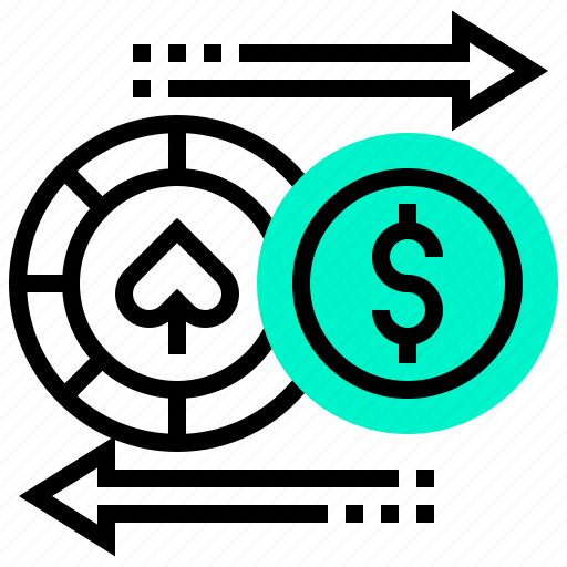 casino, chip, currency, exchange, gambling, money icon