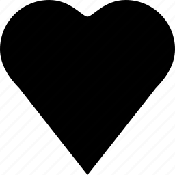 card, heart, playing card icon
