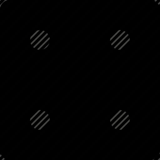 dice, four, square icon