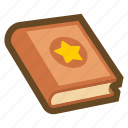 game, book, manual, guide, magic book, reading, education icon