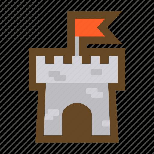 castle, colony, conquest, domination, fortress, game, win icon