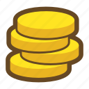 asset, bank, business, cash, coin, game, money icon