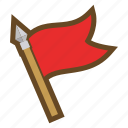 colony, conquest, domination, flag, game, seizure, win icon