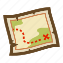 adventure, expedition, exploration, game, location, map, treasure icon