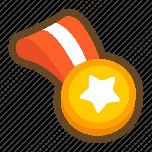 award, badge, commendation, game, medal, prize, sport icon