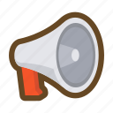 communication, loudspeaker, megaphone, message, notice, speak, talk icon