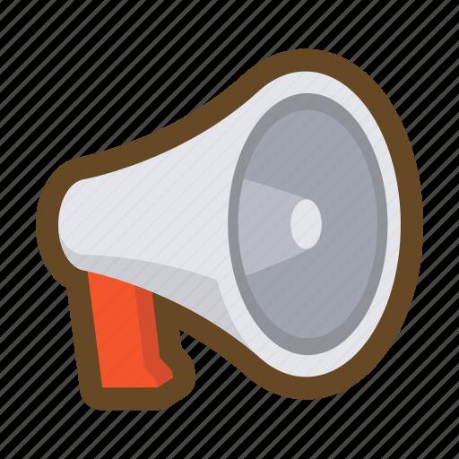 communication, loudspeaker, megaphone, message, notice, speak, talk icon