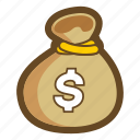 bank, game, money, moneybag, pouch, purse, sack icon