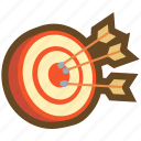 arrow, dart, game, hit, mark, ranking, target icon