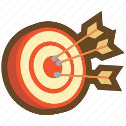 arrow, dart, game, hit, mark, ranking, target icon