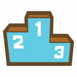 award, game, medal, prize, ranking, stand, victory icon