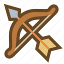 archer, arrow, bow, hunter, marksman, sagittarius, weapon icon