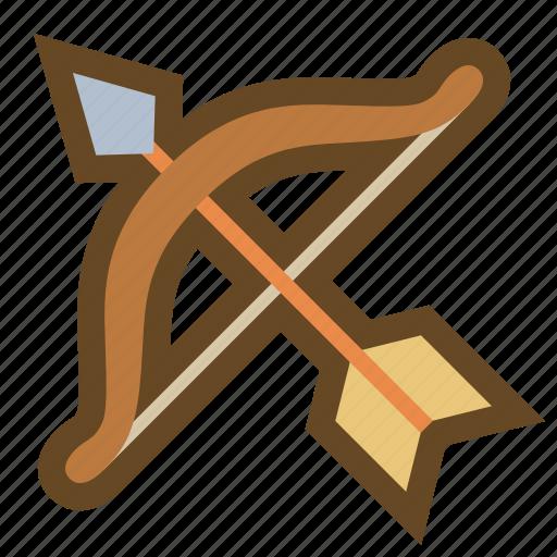 archer, arrow, bow, hunter, marksman, sagittarius, weapon icon