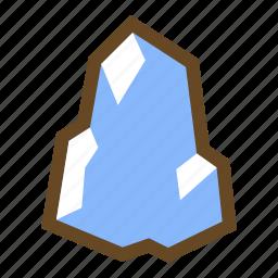 element, freeze, frozen, ice, iceberg, magic, winter icon
