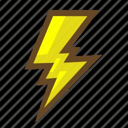 charge, electricity, element, energy, lightning, magic, power icon