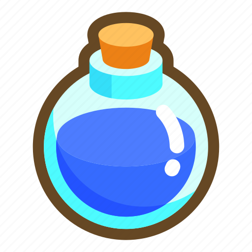 beverage, drink, game, mana, mp, potion, recovery icon
