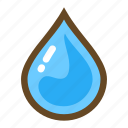 element, liquid, magic, rain, water, water drop, weather icon
