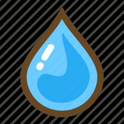 element, liquid, magic, rain, water, water drop, weather icon
