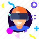 adaptive, boy, game, gamer, ios, isolated, material design icon