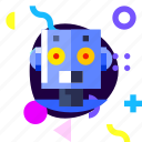 adaptive, game, ios, isolated, material design, robot icon