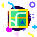 adaptive, game, ios, isolated, map, material design icon