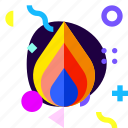 adaptive, fire, game, hot, ios, isolated, material design icon