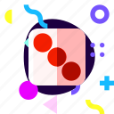 adaptive, dice, game, ios, isolated, material design icon