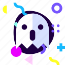 ghost, mystery, ios, material design, isolated, game, adaptive icon