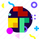 adaptive, brick game, game, ios, isolated, material design, tetris icon