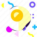adaptive, fried egg, game, ios, isolated, material design icon