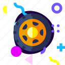 adaptive, car, game, ios, isolated, material design, wheel icon