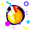 adaptive, champion, game, ios, isolated, material design, medal icon